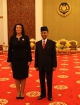 President Jahjaga received by the King of Malaysia, Abdul Halim